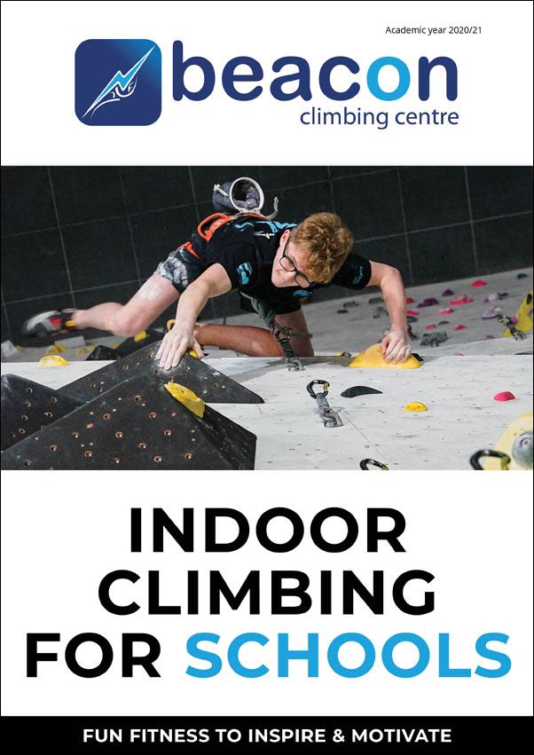Indoor Climbing for Schools at Beacon Climbing Centre, Caernarfon, North Wales