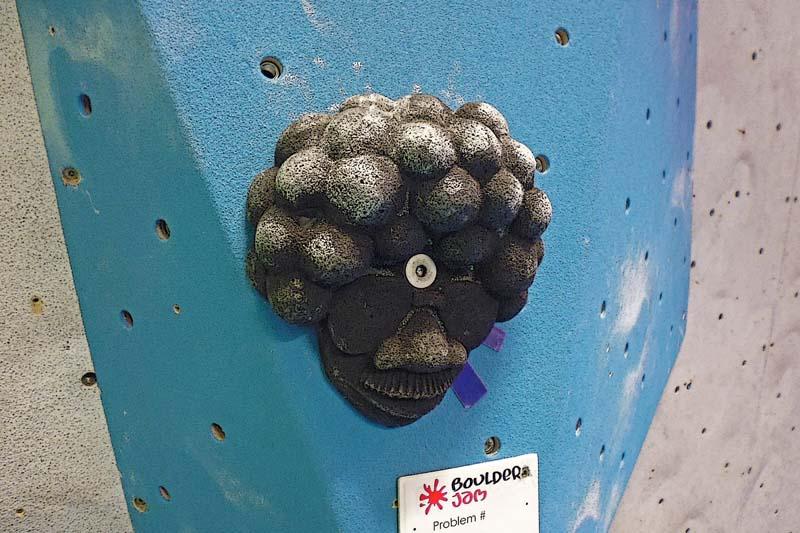 Indoor climbing at Beacon Climbing Centre, Caernarfon, North Wales