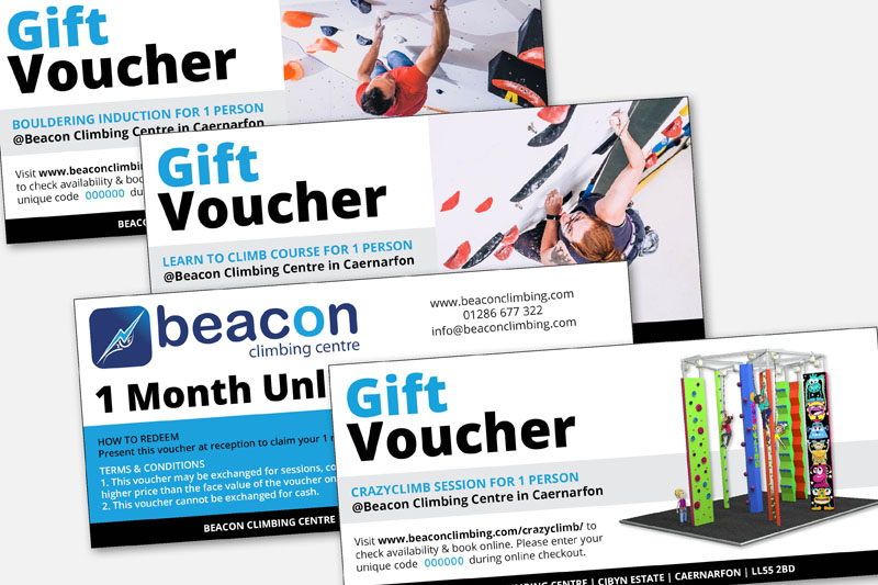 Beacon Climbing Centre Gift Vouchers