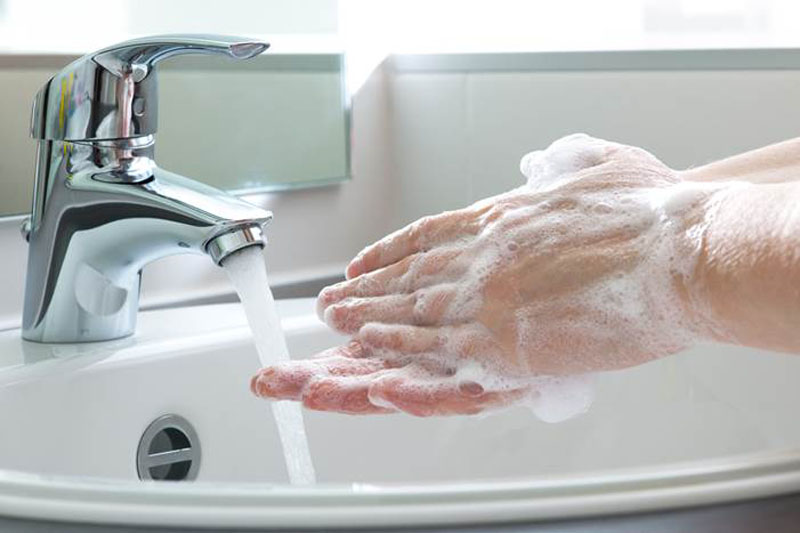 Wash your hands regularly with soap and water including both before and after climbing.