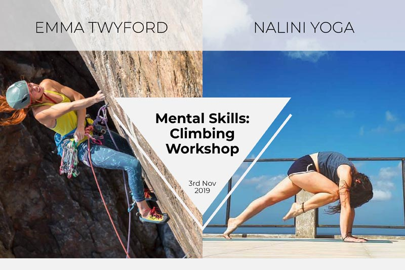 Mental Skills: Climbing Workshop with Emma Twyford & Nalini Yoga
