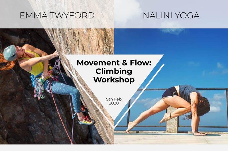 Movement and Flow: Climbing & Yoga Workshop with Emma Twyford & Nalini Yoga
