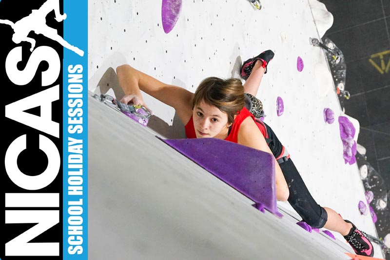 School Holiday NICAS Climbing Clubs at Beacon Climbing Centre, Caernarfon, North Wales